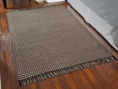 IHF Woven Rectangle Area Rug Houndstooth Black/Various Sizes for Sale