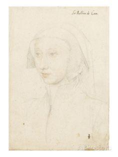 Aimée Mottier de la Fayette (1490-vers 1565), femme de François de Silly, bailli de Caen reproduction procédé giclée par Jean Clouet sur All...