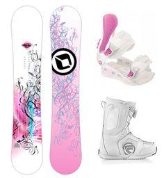 Pink/White Snowboarding Gear
