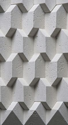 28 Ideas for wall pattern geometric texture Beton Design, Tile Design, Pattern Design, 3d Pattern, Pattern Texture, 3d Texture, Texture Design, Surface Pattern, Wall Patterns