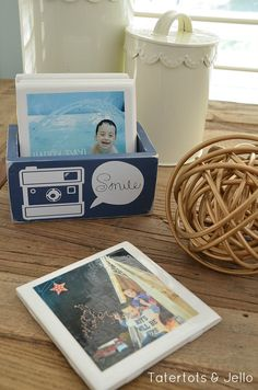 Gift Idea: DIY Instagram Coasters in Custom Box! -- Tatertots and Jello #DIY #Gifts