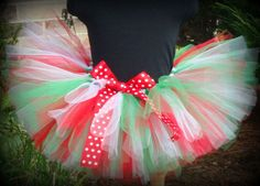 Girls~Red, White, & Green CHRISTMAS Holiday TUTU SKIRT~Great Gift~ANY SIZE!