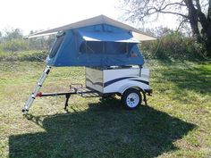 This is a cozy tent on wheels...400 lb tow weight...adorable!