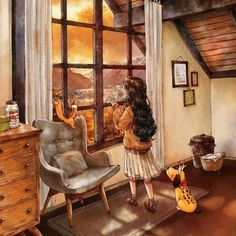 Happiness In Living Alone Revealed In 65 Illustrations By Korean Artist – My Home Inspiration Art Anime, Anime Art Girl, Forest Girl, Korean Artist, Illustrations, Cute Illustration, Cute Drawings, Cute Wallpapers, Cute Art
