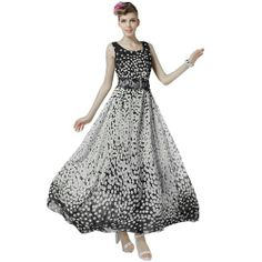 Maxi Dress Beach wear Black White Polka Dot Summer Dresses for women Plus Size (XL) Ideasuke Bohemian Dresses,http://smile.amazon.com/dp/B00J6UNUN4/ref=cm_sw_r_pi_dp_4OtDtb0C8CWEHMFV