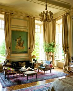 Habitually Chic®: Chateau Chic--- love, love, love this Drawing Room in Timothy Corrigan's French home...