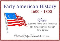 Early American History ~ Lesson Plans and Printables (Introduction and Index) History Lessons For Kids, History Lesson Plans, Black History Month Activities, American History Lessons, World History Classroom, History Education, Teaching History, Nasa History, Ancient History