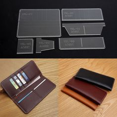 Acrylic Template for business long wallet Leather craft Pattern stencil YKL-90