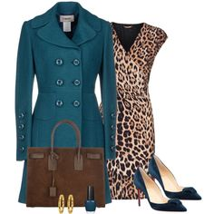 """Leopard And Teal Works Well Together !!!"" by stylesbypdc on Polyvore"