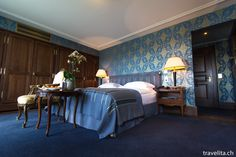 A room in the Hotel Les Trois Rois in Basel - one of the oldest luxury city Hotels in Europe