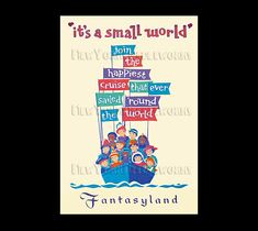 Disney Poster Cross Stitch It's a Small by NewYorkNeedleworks, $8.95