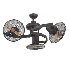 Vintage Gyro 42-Inch Twin Ceiling Fan | Oil rubbed bronze, Ceiling ...