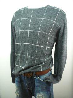 mens - DOCKERS - sweater -L-  lightweight crewneck pullover #DOCKERS #Crewneck
