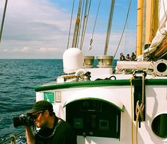 Will ( doing his thing up front and crew doing their thing at the back. Somewhere around off the coast of the Isles of Rúm or Eigg. Love Film, Shoot Film, Sailing Boat, Film Photography, Rum, Thats Not My, Coast, Fair Grounds, Community