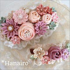 Diy Ribbon, Ribbon Work, Fabric Ribbon, Handmade Flowers, Diy Flowers, Fabric Flowers, Vintage Headbands, Flower Headpiece, Kanzashi Flowers