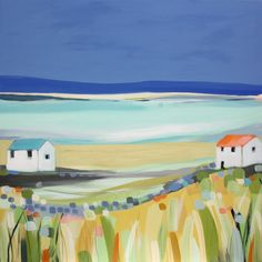 Love the simplicity and joy in this painting  --  janet bell: clear evening
