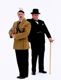 Ricky as Winston and Hitler