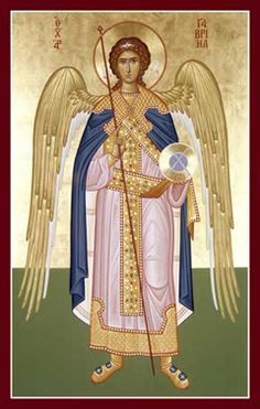 Byzantine Icons | Archangel Gabriel Orthodox Icon » Mounted Orthodox Icons of Angels ...