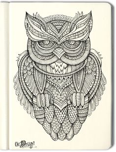 Owl illustration by balabolka, via Behance