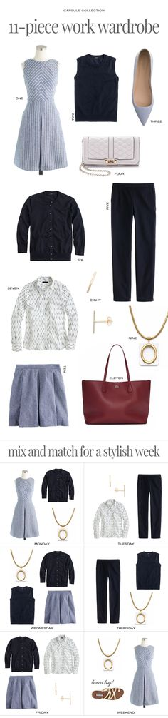 11-piece work wardrobe #workwardrobe #workclothes #capsulecollection