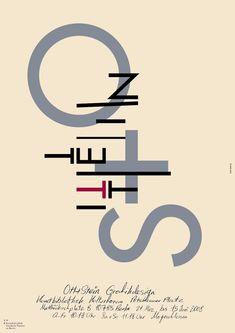 Ott+Stein - Plakat Berlin, Typography Design, Lettering, Functionalism, Logos, Calligraphy, Posters, Artists, History