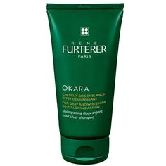 Rene Furterer Okara Mild Silver Shampoo is formulated especially for gray and white hair tones, with blue pigments to neutralize discoloration and keep color luminous and true. Hair A, Your Hair, Blonde Hair, Best Purple Shampoo, Blue Pigment, White Hair, Grey And White, Lava, Beauty