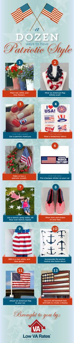 A Dozen Ways to Have Patriotic Style by Low VA Rates