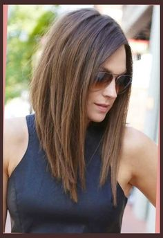 angled long haircut Pertaining to  Hairstyle                              …                                                                                                                                                                                 More