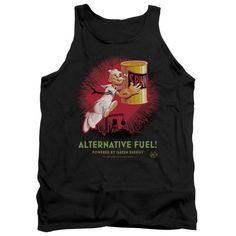 POPEYE/ALTERNATIVE FUEL - ADULT TANK - BLACK - 2X   ALTERNATIVE FUEL | Cartoon T-Shirts | Mopixiestore.com