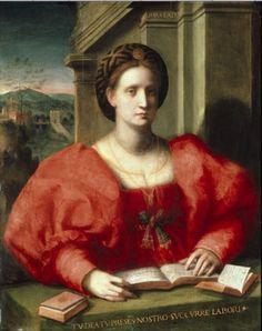 1525 Domenico Puligo - Barbara Salutati from History of fashion in art & photo
