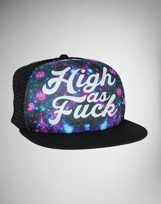 High as Fuck Sublimated Trucker Hat