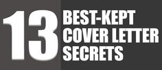 The 13 Best-Kept Cover Letter Secrets   Classy Career Girl