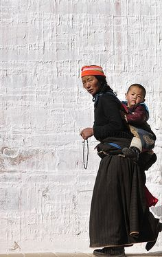Mother and child , Tibet