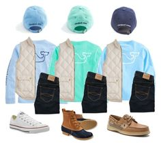 vineyard vines with my sisters by mackenziejameson ❤ liked on Polyvore featuring J.Crew, Abercrombie Fitch, L.L.Bean, Sperry and Converse