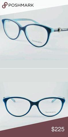 31d48f6f6b Tiffany  amp  Co Eyeglasses New Blue and teal frame 52-16-140 Case