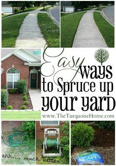 urban gardening - Easy Ways to Spruce up your Yard The Turquoise Home Outdoor Landscaping, Front Yard Landscaping, Outdoor Gardens, Landscaping Ideas, Small Gardens, Outdoor Projects, Garden Projects, Garden Tools, Outdoor Ideas