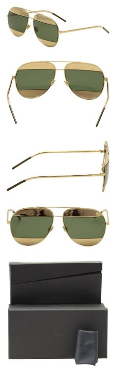 cec0ece56a59 Amazon.com: Dior 0 Rose Gold DiorSplit1 Aviator Sunglasses Lens Category 3  Lens Mirrored Si: Clothing