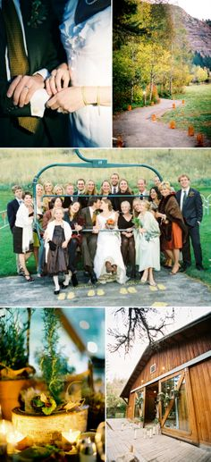 I'm falling in love with a mountain wedding...
