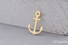 925 Sterling Silver Anchor Charm Gold Plated, Anchor Pendant, Silver Anchor, Small Anchor, Pendant, jewelery making, craft tools, Plated- The product is covered with 24 carat gold. The product is coated with two layers of gold: the backing layer and a terminal, which makes the element more sturdy.  > Material: 925 silver plated with 24 carat gold > Size: 10,5x15mm (0,41x 0,59inch) A = 10,5mm (0,41inch) B = 15mm (0,59inch) > The hole size: 1 mm (0,0394 inch) > Thickness: 0.4 mm (0,016inch)…
