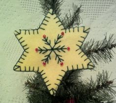 Handmade Piney Branches Snowflake Christmas by JylMilnerCreates