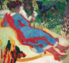František Kupka (Czech, 1871 – 1957), Rodinný portrét. 1910, olej, plátno, 103 x 112 cm.