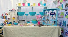 Love the colors in this craft booth.