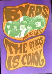 BYRDS  A double sided poster printed in Sweden for American distribution