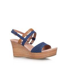 734244a4ca0 lira mar blue mid heel wedge sandals from UGG Australia Carvela