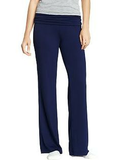 Women's Fold-Over Jersey Lounge Pants | Old Navy