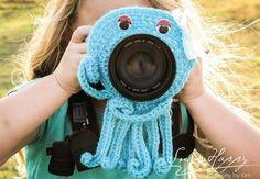 Crochet Camera Buddy Octopus Lens Cover Photography Helper Kids Photo Prop Photography Helper  Attention grabber  Smile Creator