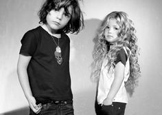 awesome rock fashion for kids (I so hope I have a daughter with hair that awesome!)