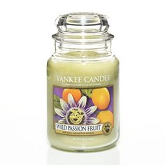 Wild Passion Fruit: Yankee Candle:  Bright and vivacious . . . this exotic passion fruit is blended with melon and mandarin.