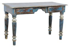 Santino Desk on OneKingsLane.com-459.00-x2-use in master bathroom suite for makeup table-& use in kitchen for using for looking up recipes-etc-#1