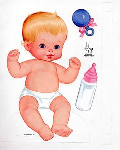 Vintage Whitman Mattel Newborn Baby Tender Love Paper Dolls 1973 Uncut Unused | eBay